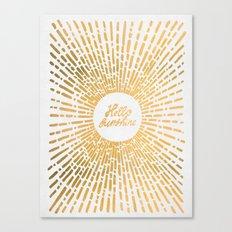 Hello Sunshine Gold Canvas Print