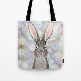 rabbit woodland animal portrait Tote Bag