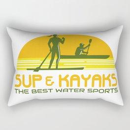 SUP and Kayak Water Sports Retro Rectangular Pillow