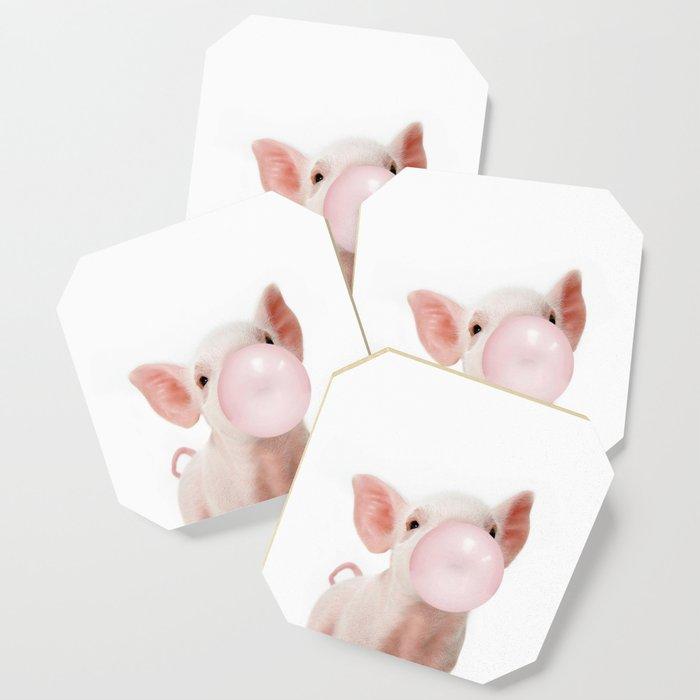 Bubble Gum Baby Pig Coaster
