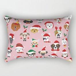 Christmas Dog Pattern Illustration Rectangular Pillow