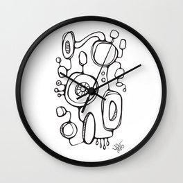 Orbs N Lines - Scribbles 01 Wall Clock