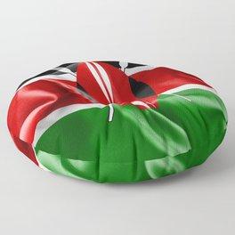 Kenya Flag Floor Pillow