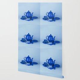 Blue tea party madness - still life Wallpaper