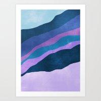 Stratum 7 Violet Breeze Art Print