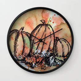 Pumpkin Trio Wall Clock