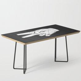 Geometric Peace sign Coffee Table