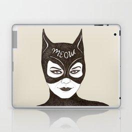 Cat Woman Sketch Meow Laptop & iPad Skin