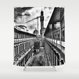 Uffizi view Shower Curtain
