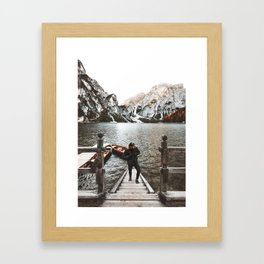 man at braies Framed Art Print