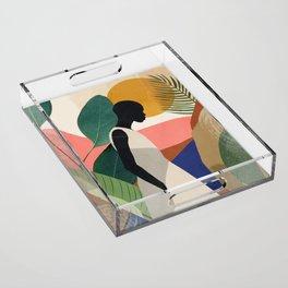 Tropical Girl Acrylic Tray