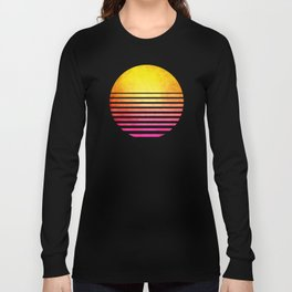 Vintage Retro 80's Synthwave Sun Long Sleeve T-shirt