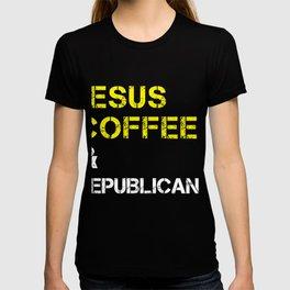 Jesus, Coffee & Republicans & 2020 Trump design T-shirt