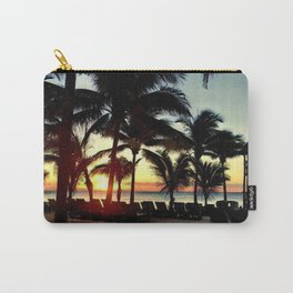 Sunset in Hawaii (Palm Trees, Beach, Silhouettes) Carry-All Pouch