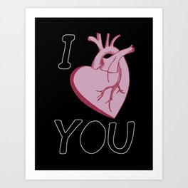 I Love You (black) Art Print