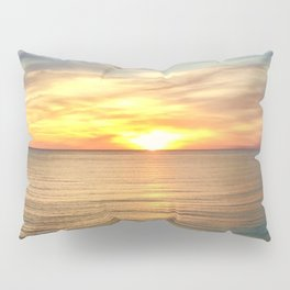 Tranquil Beach Sunset Pillow Sham