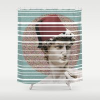 david fleck Shower Curtains featuring David by Nasaém