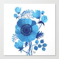 blues Canvas Prints featuring BLUES by Oana Befort