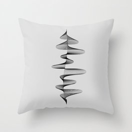 Abstract 80s Soundwave Art Music Audio black and white Musical design home wall bedroom decor Art Pr Throw Pillow