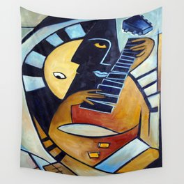 Blues Guitarist Wall Tapestry