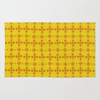 yellow pattern Area & Throw Rugs featuring yellow pattern by JesseRayus