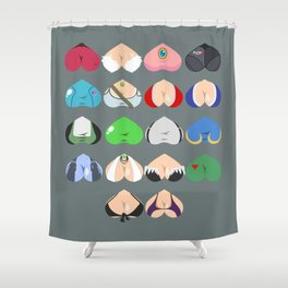 Females In Video Games Shower Curtain