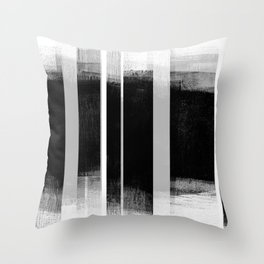 Black and White Retro Style Geometric Abstract - Codex Throw Pillow