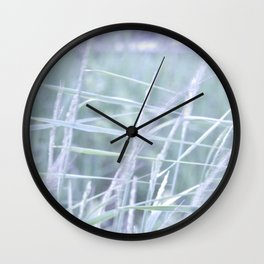Wind Through the Grass Wall Clock
