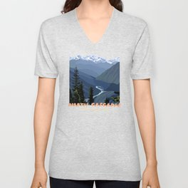 North Cascades National Park, Vintage Unisex V-Neck