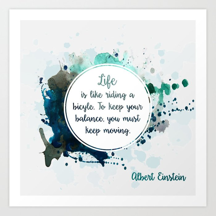 Albert Einstein's quote Art Print