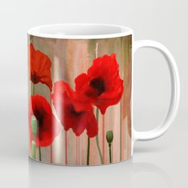 Watercolor Poppies Coffee Mug