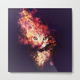 abstract young cat wsstd Metal Print