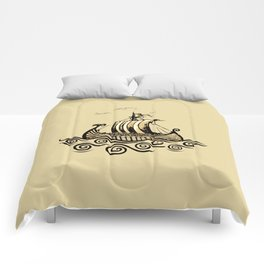 Viking ship 2 Comforters