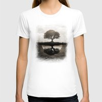 T-shirts featuring The lone Night reflex by Viviana Gonzalez