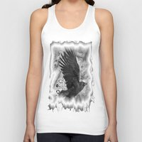 crow Tank Tops featuring crow by Vector Art
