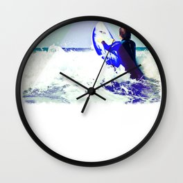 Surfing Devon Wall Clock