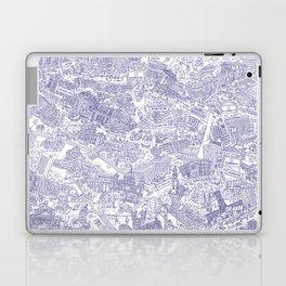 Illustrated map of Berlin-Mitte. Ink pen design Laptop & iPad Skin