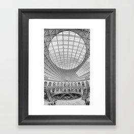 The Corn Exchange Interior In Monochrome Framed Art Print