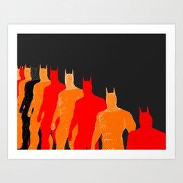 The Bat Retro Art Print