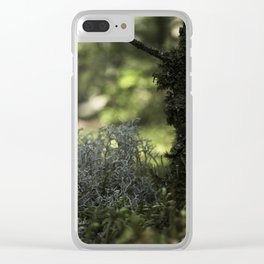 Mountain Forest Floor Clear iPhone Case