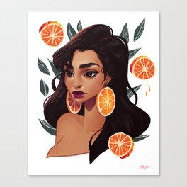 Orange Hoops Canvas Print