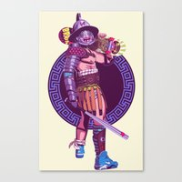 gladiator Canvas Prints featuring Street Warriors - Gladiator by Mike Wrobel