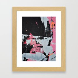 Profoundly [1]: a vibrant abstract piece in blues magenta and orange by Alyssa Hamilton Art Framed Art Print