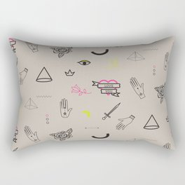 Tattoo doodles pattern Rectangular Pillow