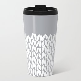 Half Knit Grey Travel Mug