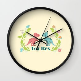 Tea Rex Wall Clock