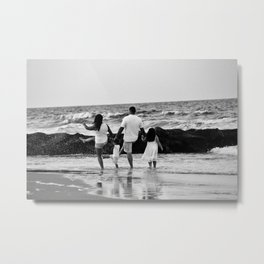 Kicking Waves Metal Print