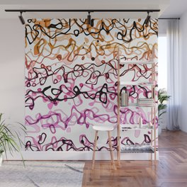 All Scribbly Like - rEd Wall Mural