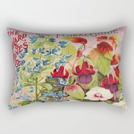 Vintage Flowers Advertisement Collage Rectangular Pillow