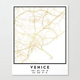 VENICE ITALY CITY STREET MAP ART Canvas Print